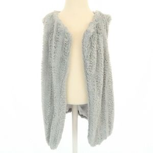 Beautees M 10/12 Fuzzy Gray Vest Soft Lined Girls